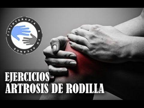 Artrosis de rodilla, ejercicios para aliviar el dolor / Fisioterapiatualcance - YouTube