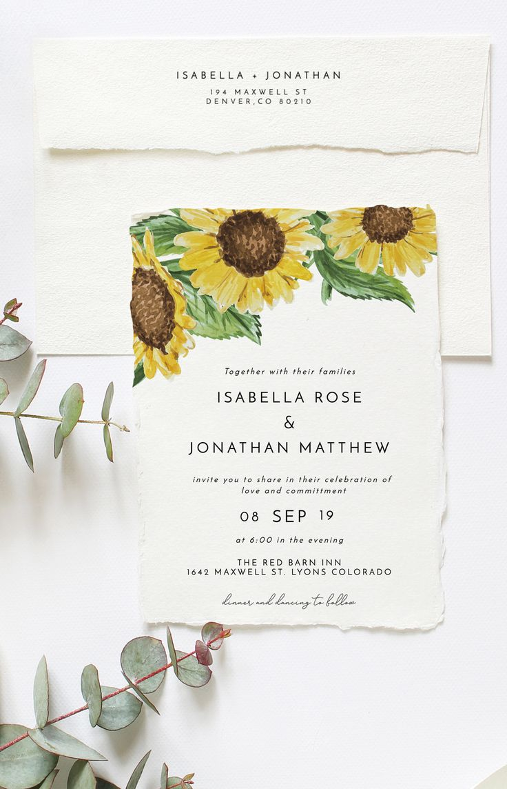 Rustic Sunflower Wedding Invitation Suite - This wedding invitation suite features beautiful watercolor sunflowers and modern sans serif fonts. Easily edit this invitation suite in your internet browser with no need to download any additional softwares or work through complicated programs. My templates come stocked full of hand-selected fonts because if you're anything like me, you literally believe a font can make or break an event. Don't worry, I'm here to help make it!