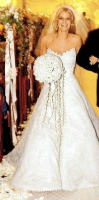 Jessica Simpson Wedding Dress by Vera Wang