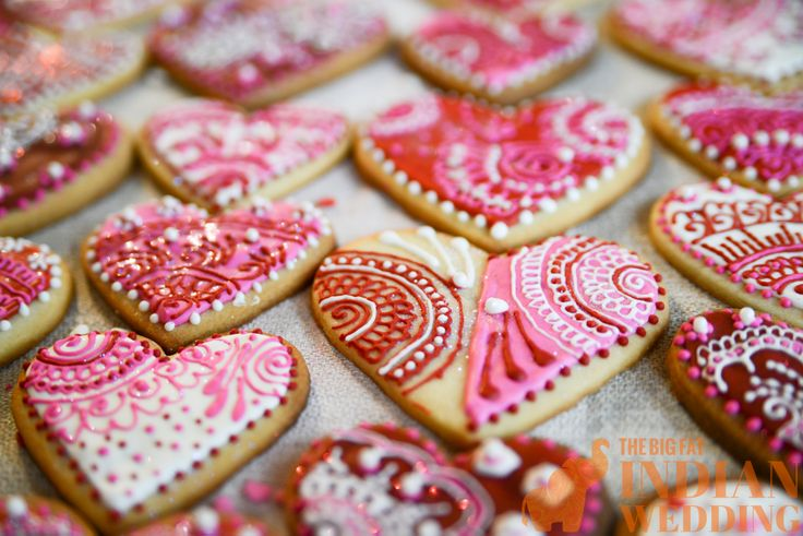 heart sugar cookies for valentine's day
