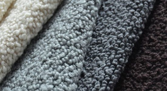 Fabric made of 97% wool, available in a palette of neutral colors. It is used in the production of upholstery.
