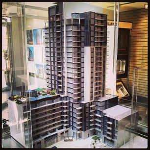 Another angle of ME Living Condos scale model!