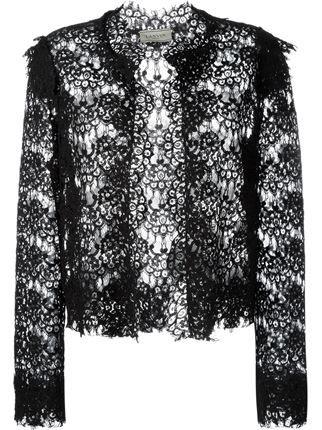 Lanvin кружевной укороченный пиджак
