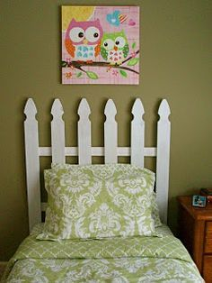 SUPER Easy Picket Fence Headboard. Fence pickets only $1.42 each.