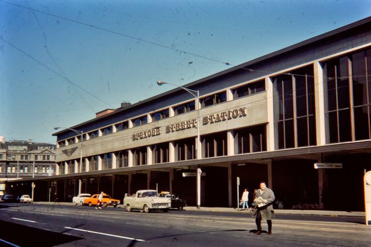 Spencer Street Station, Melbourne, Australia, 1970.