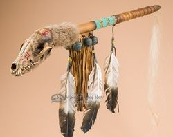 coyote medicine rattle dance stick