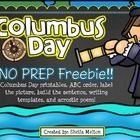 Celebrate Columbus Day with your students using this  Columbus Day FREEBIE!  Columbus Day activities include: ABC Order Label the Picture Graphic O...
