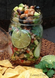Cowboy Caviar ~ a simple no fuss appetizer great for any holiday party, but especially cute for a Country Christmas gathering. Must try this Southern recipe!