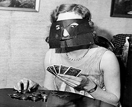 Agnes was duped into joining a Zorro poker school - Tom Renquist http://www.globalmuseum.org #captioncontest #museums #globalmuseum #humor #humour
