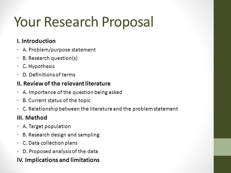 research proposal phd application