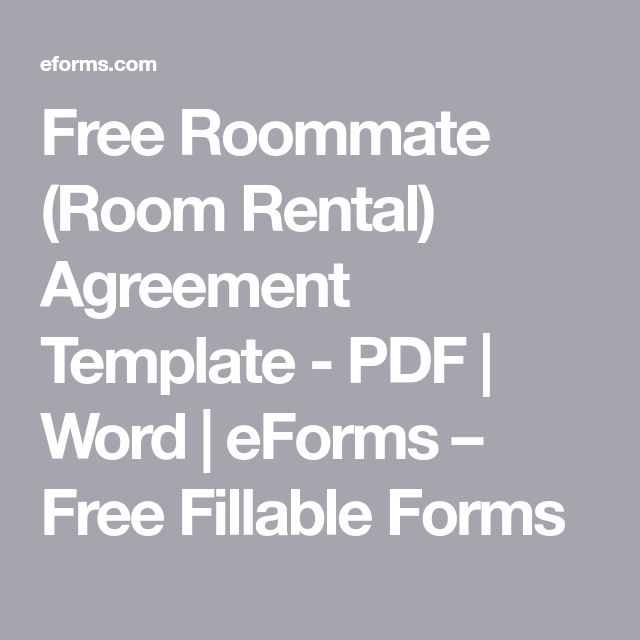 The  Best Room Rental Agreement Ideas On