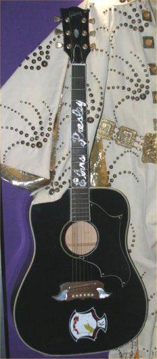 Elvis' 1969 Ebony Custom Gibson Dove