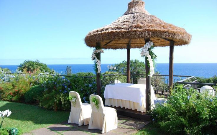 Ceremony with amazing views in Madeira. http://www.yourmadeirawedding.com/directory/vila-porto-mare-resort