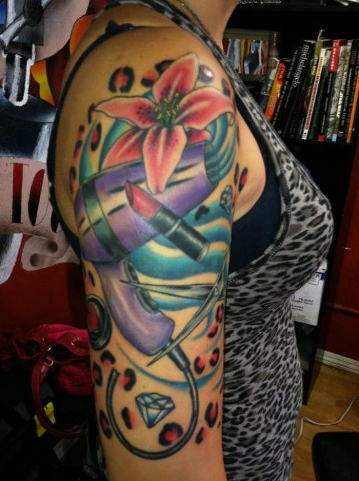 Pop Art besides Tattoos Of Heaven And Hell Quotes moreover Daizy Design Kids Face Painting likewise Hairdresser Tattoo together with Dragon Koi Fish Tattoo Design S le. on day of the dead nail designs