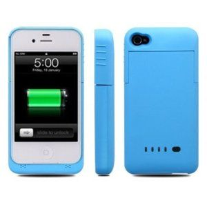 Greenery Slim External Rechargeable Backup Battery Charger Charging Case Cover for iPhone 4 4s (2000mAh) (Iphone 4/4s 1900mAh BLUE) by Greenery Case. $17.89. Audio Play:Up to 30 Hours;Vidio Play:Up to 8 Hours;. High quality Ultra Slim External Li polymer battery Lithium-ion Power for iPhone 4 & 4S. Talk Time:Up tp6.5 Hours on 3G Network / Up to 10 Hours on 2G Network;. Standby Time:Up to 230 Hours;Weight: 65g;. Portable,convenient,easy to use,high capacity. Specificat...