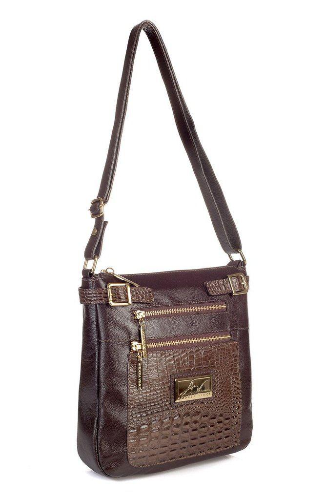 dddc1ea24 Bolsa Transversal feminina de couro Chloe café | bolsos. carteras y  mochilas | Shoulder Bag, Bags e Leather design