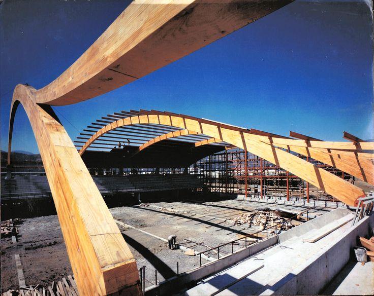 Trafalgar Sports Stadium, Curved Single Span Glulam Rafters