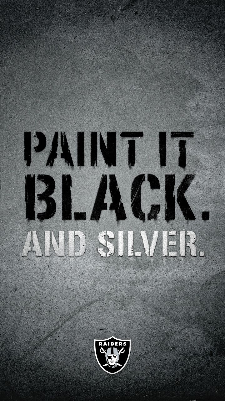 Paint your device Oakland Raiders silver and black with this smartphone wallpaper from Verizon.