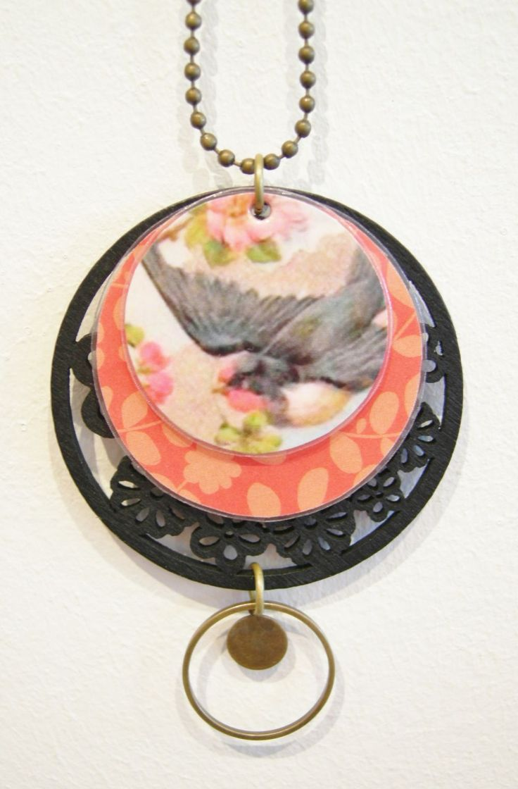 """Collier pendentif """"oiseaux boh�me"""" A3 via LUNE ROUSSE. Click on the image to see more!"""