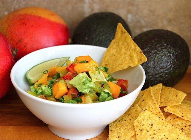 Two Easy Recipes for Salsa: Fresh Strawberry Salsa and Mango Avocado Pepper Salsa - Jeanette's Healthy Living