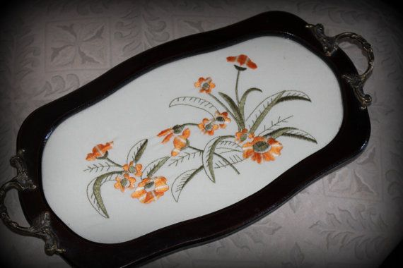 Antique serving tray via HauteAppeal
