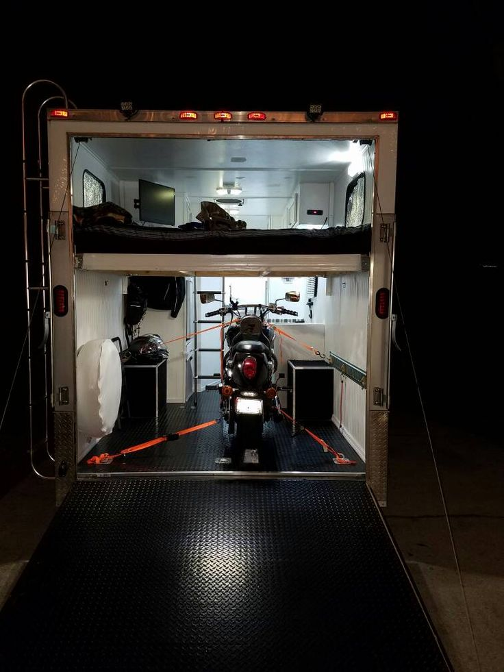 Street bike loaded. Loft bed installed. | DIY Camper ...