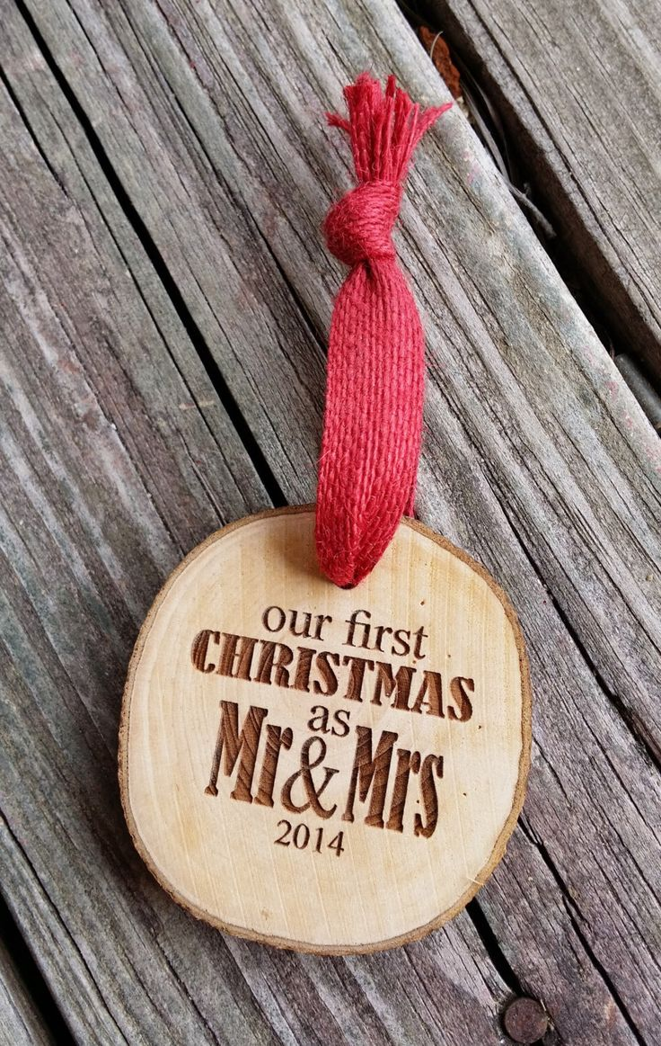 Couples christmas ornaments - Our First Christmas Ornament Couple S First Christmas Ornament Engraved Wood Slice Ornament Personalized First Christmas Ornament