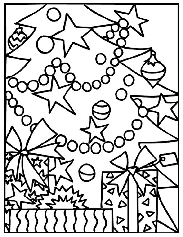 Christmas Tree Coloring Page Adult Coloring Pages Christmas