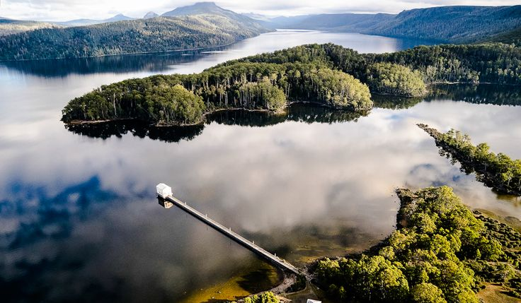 Pumphouse Point hotel, Lake St Clair, Tasmania
