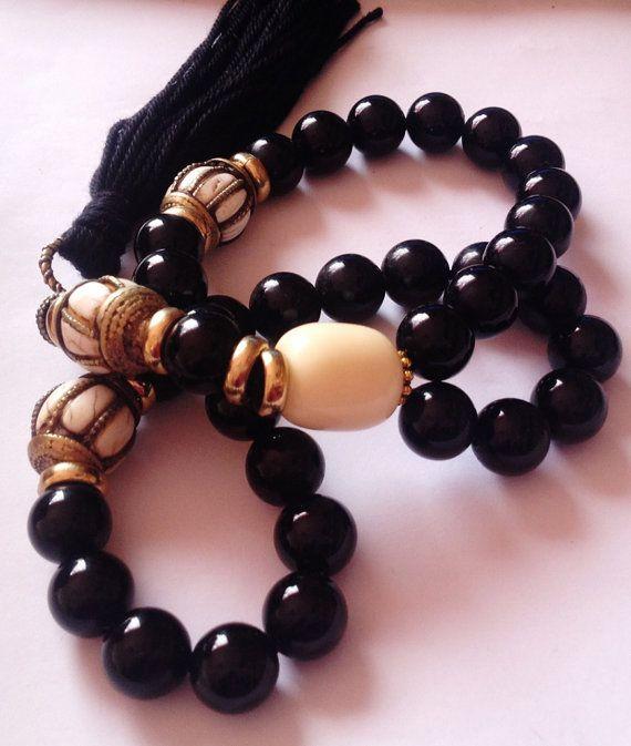 Turkish Islamic 33 Prayer Beads Tesbih Tasbih by kaysoothingbeads, $60.00