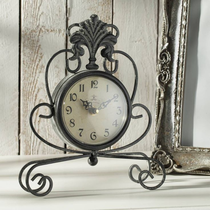 #zegar #clock #watch #decoration #dekoracje  #home #interior #design #ideas Zegar Albert metal, 21x5,5x26cm - Dekoria