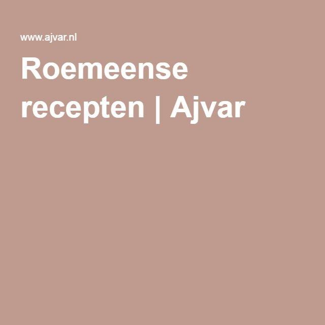 Roemeense recepten   Ajvar
