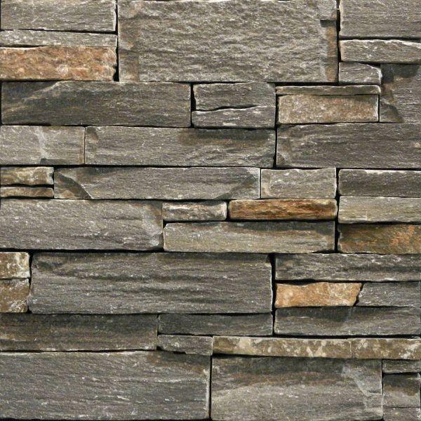 Elementz Natural Stone Ledgestone Panels (Driftwood) [Grey, Gray, Brown,  Real