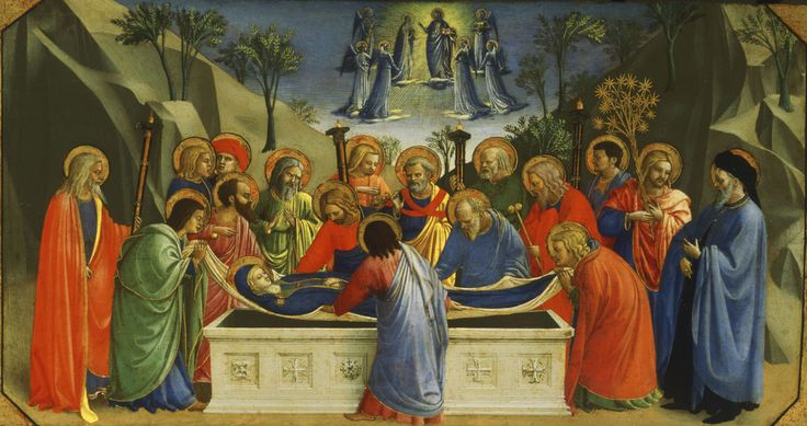 Beato Angelico, Dormitio Verginis, presso Philadelphia Museum of Arte