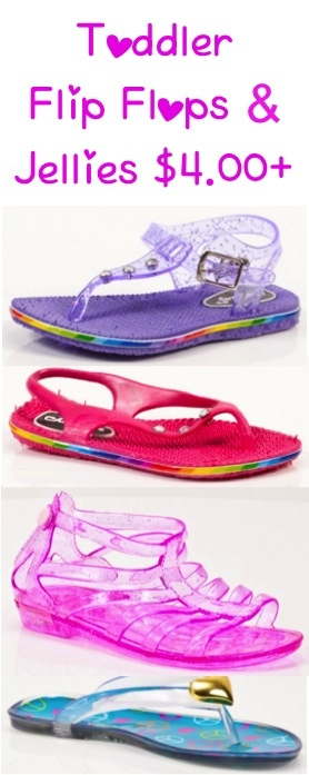 Toddler Flip Flops and Jellies Sale ~ 4.00+ #shoes