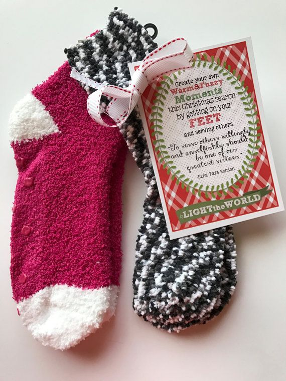 INSTANT Download for Light the World Tags - YOU print tags yourself - Socks Service Young Womens Primary Sunday School Christmas Gift