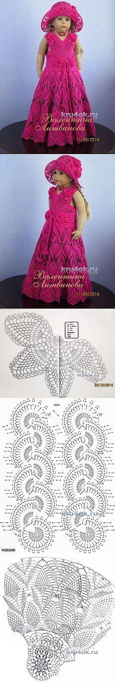 Комплект для девочки крючком — работа Валентины Литвиновой - вязание крючком на kru4ok.ru