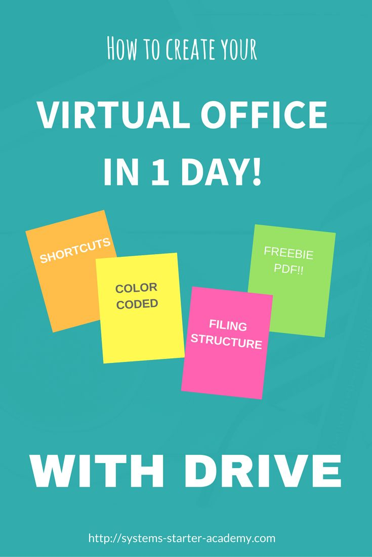 Organize and structure your virtual office easily with this Drive workshop.