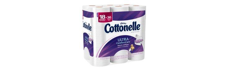 Cottonelle Ultra Toilet Paper Double Roll, 18 Count