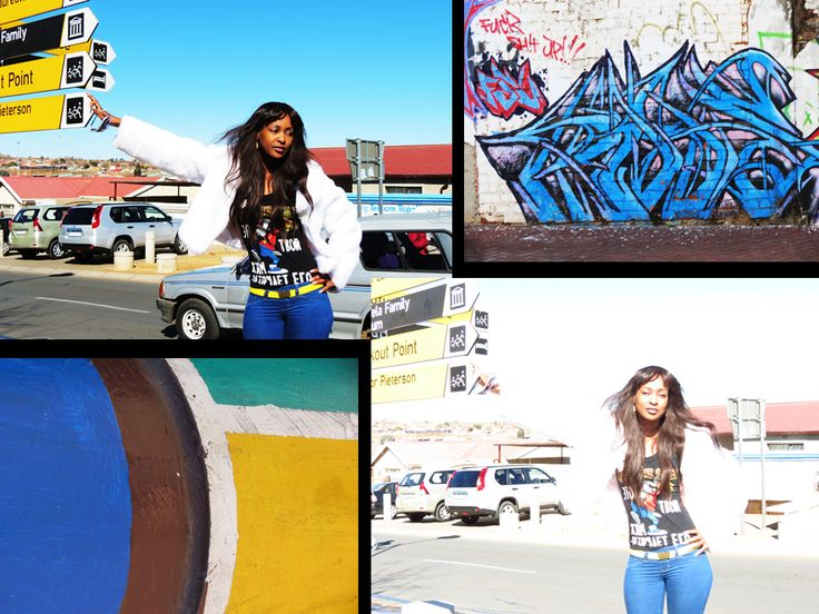 My fashion photo-collage embracing the 'colourful' street-style and sites from the city of Johannesburg to Soweto.