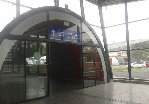 New train stop at Ostrava Airport.