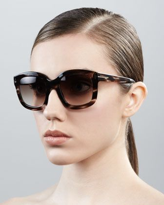 Christophe Oversized Sunglasses by Tom Ford at Bergdorf Goodman.