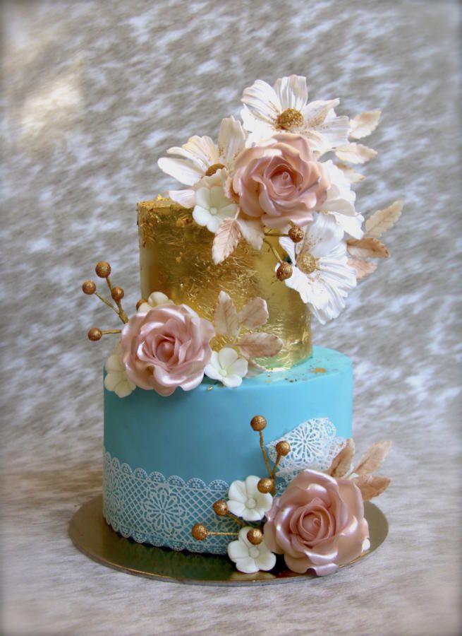 Wedding cake by Veronica22 - http://cakesdecor.com/cakes/280946-wedding-cake