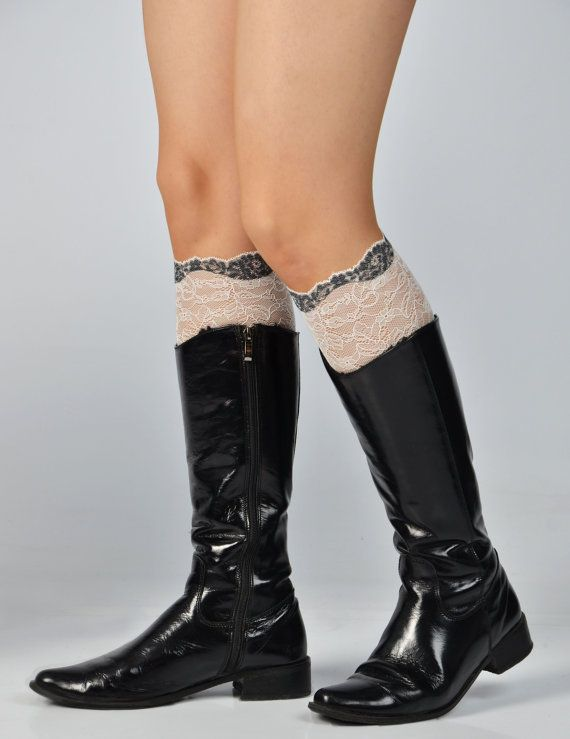 Lace boot cuff lace boot topper spring wedding by BootCuffDrapery