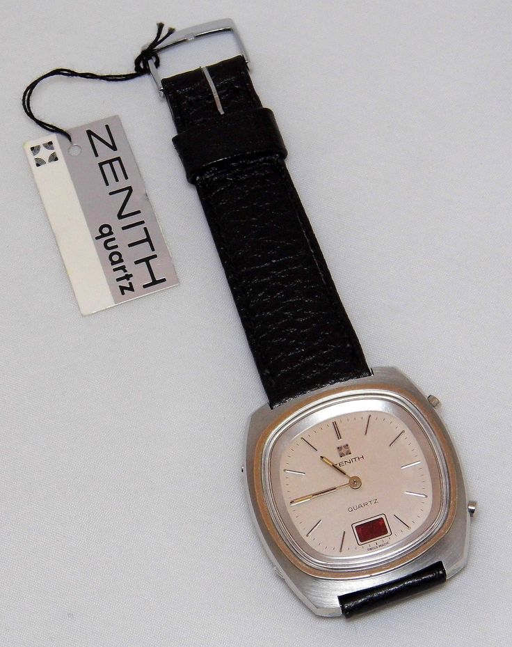 https://flic.kr/p/21hx81X | Zenith Men's TimeComand Wrist Watch, Quartz Movement, Analog Time With LED Digital Readout, Original Watch Band, Swiss-Made, Circa 1970s | Original sales tag is attached with a suggested retail price of $195.00/