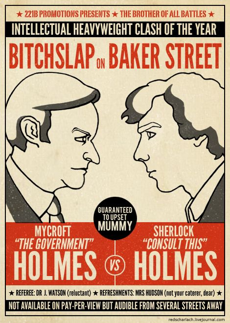 The Holmes brothers duke it out.  #sherlock #mycroft: Sherlock Bbc, 221B, Dear, Sherlock Holmes, Baker Street