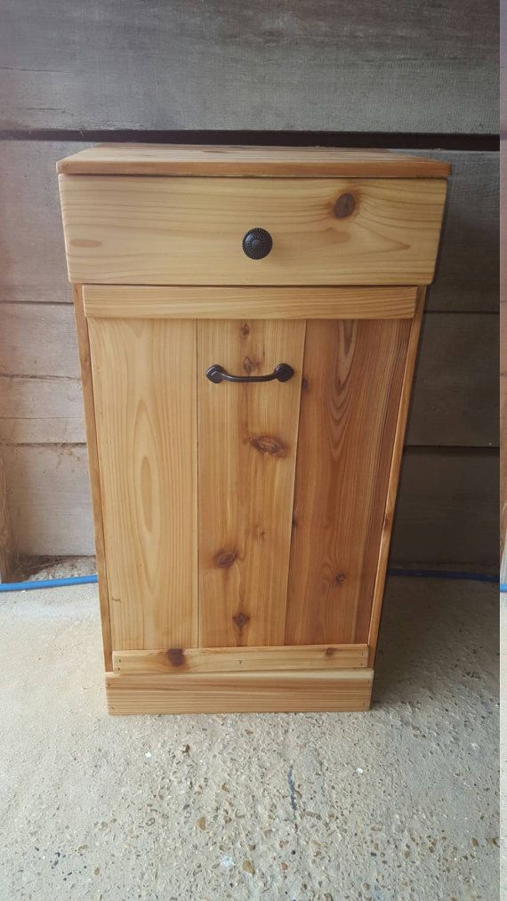 Wood Crafted Trash Can Plans