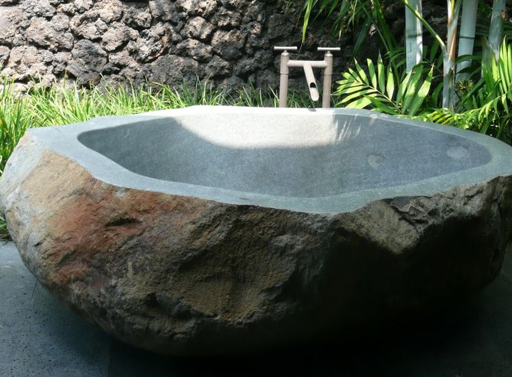 best 25 stone bathtub ideas on pinterest rustic saunas city style bathroom design ideas and. Black Bedroom Furniture Sets. Home Design Ideas