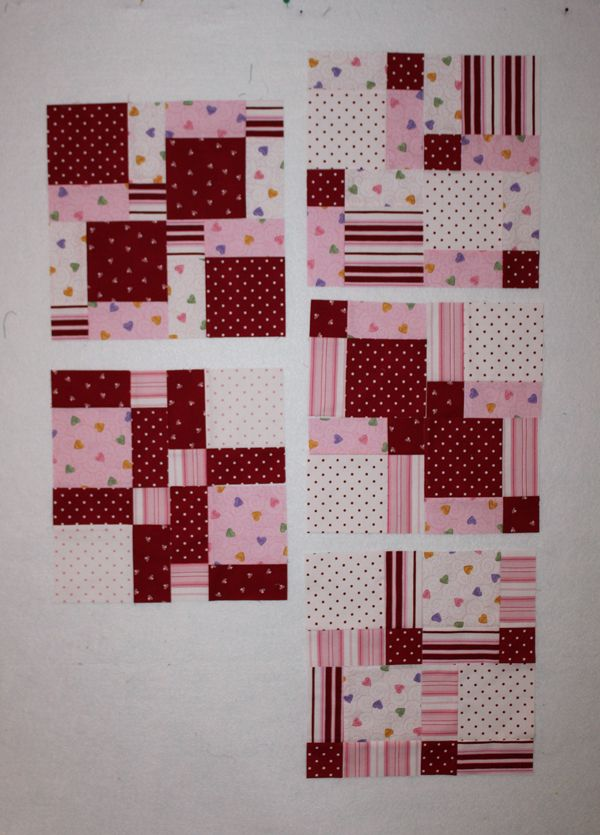 Disearing 9 Patch In Various Lay Outs Quilt Blocks Nine