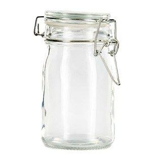 Medium Glass Jar with Glass Lid &#38